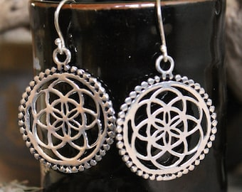 Brass Celtic earring , Boho Earring , Tribal Earring , Gypsy Earring