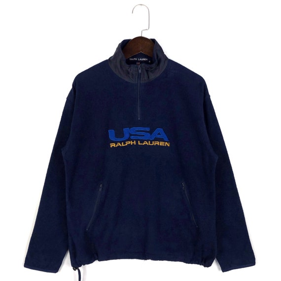 Vintage Polo Sport Usa Ralph Lauren Fleece Half Zi