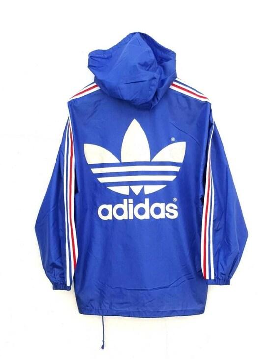 bf1c05affb Vintage 90s ADIDAS nylon light jacket run dmc hip hop