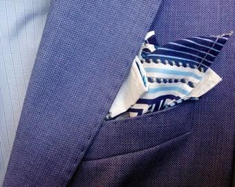 "Pocket square ""Blue pictures"""