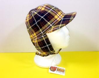 27cc1d55526 Age 2-4 years Vintage 1960 s NEW unworn deerstalker checked childrens hat  cap