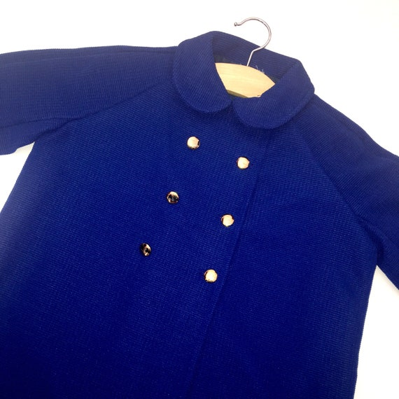 c7ccfcede Vintage mothercare new unworn 1970 s boys blue coat age 3