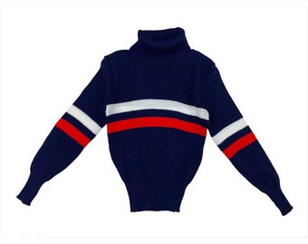 Age 5-6 years vintage 1970's new unworn striped polo neck