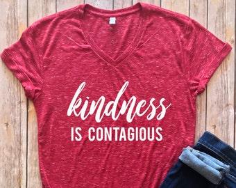 Kindness is Contagious Shirt, inspirational shirt, Kindness shirt, be kind, Kindness matters shirt, teacher shirt, teacher gift
