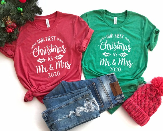 Our First Christmas as Mr and Mrs Shirt Christmas Couples | Etsy