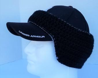Double Layer Baseball Cap Ear Warmer   Crochet   Men s Ear Warmer 7f1d4869895