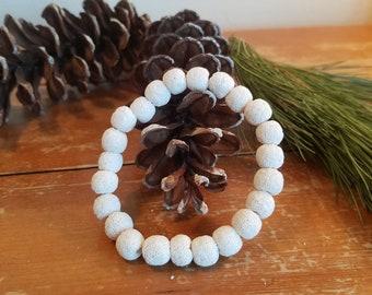 Men's White Lava Rock Essential Oils Diffuser Bracelet