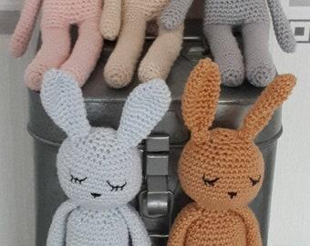 Amigurumi,lapin doudou peluche multicolore au crochet pour bébé ... | 270x340
