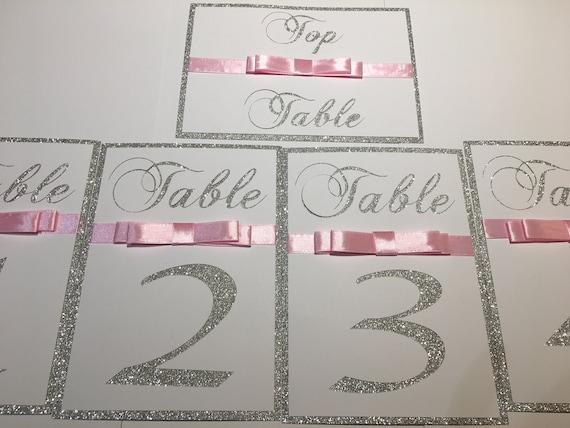 Sparkle Wedding Range Gems Free Standing Table Menu Cards x20