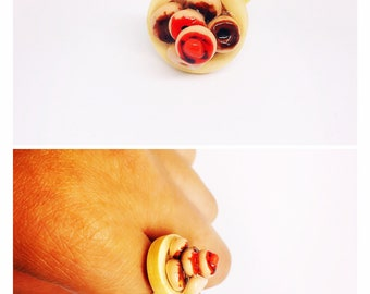 Mini donuts ring/deco dessert ring/costume jewelry/ statement ring/fun gift for her