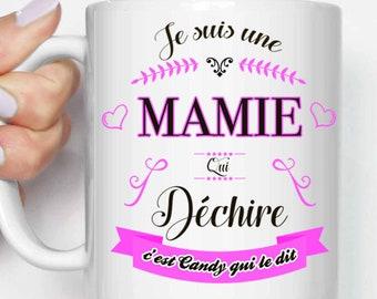 mug cup i m a grandma who rocks name etsy