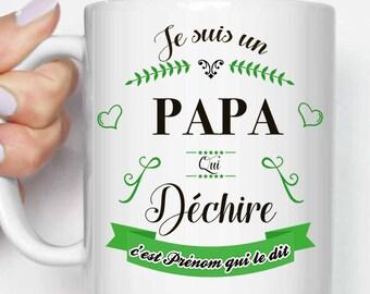 mug cup i m a dad who rocks name etsy
