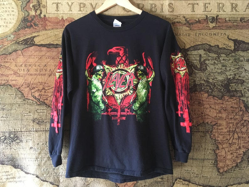 SLAYER 2007 Christ Illusion North American Dates Official Concert Long  sleeve Shirt Authentic Merchandise Size M
