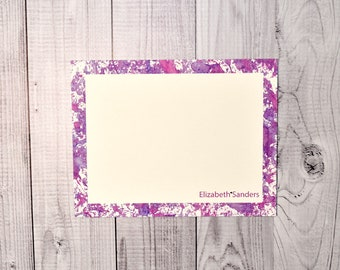 Purple Personalized Flat Cards