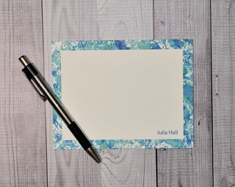 Blue Personalized Flat Cards