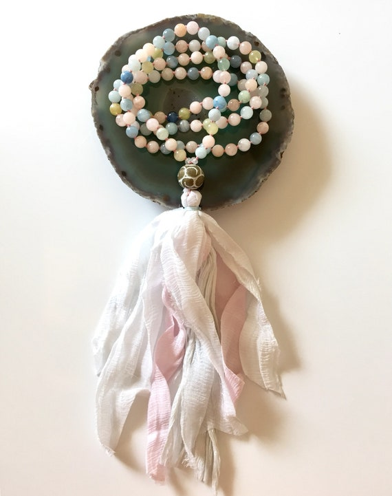 The Mala For Love and Marriage, Morganite and Jade