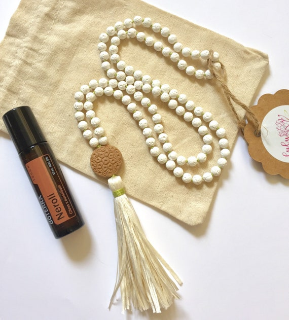 The Mala For Grounding, Essential Oil Diffuser Collection, White Lava