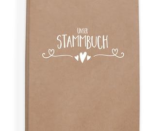 Stammbuch der Familie, Stammbuch Hochzeit, Familienstammbuch, Vintage, Kalligraphie, Eheurkunde, Geburtsurkunde, A5 - Simple Vintage weiß