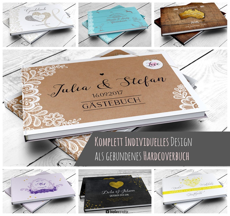 Wedding Guest Book with questions image 0