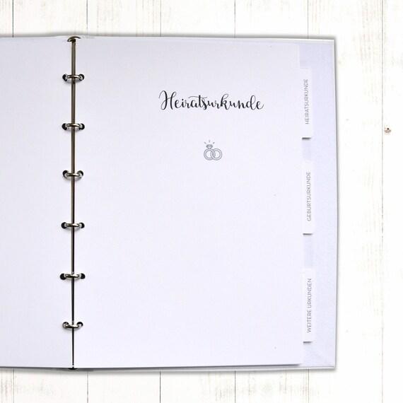 Stammbuch Register Einlegeblätter für Stammbuch 6-seitig | Etsy