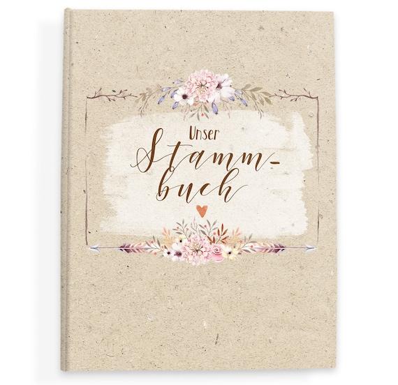 Stammbuch der Familie Stammbuch Hochzeit Familienstammbuch | Etsy