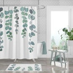 Shower Curtain; Bathroom Decor; Plant Shower Curtain; Tropical Shower Curtain; Watercolor Shower Curtain; Polyester Shower Curtain