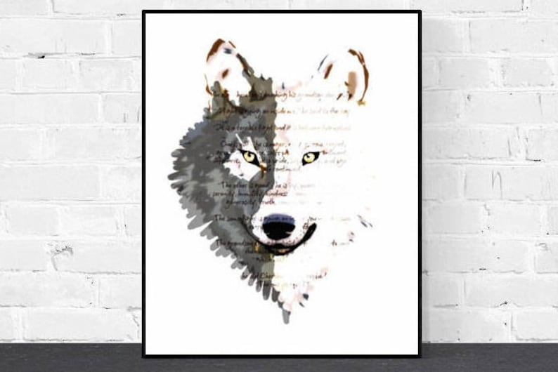 picture relating to Wolf Printable named Black Wolf White Wolf - Printable Artwork, Black and White Print, Electronic Print, Cherokee Tale, The 1 On your own Feed Quotation,