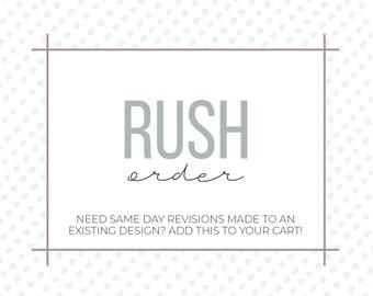 Rush My Order | Rush Upgrade Fee | Add-On