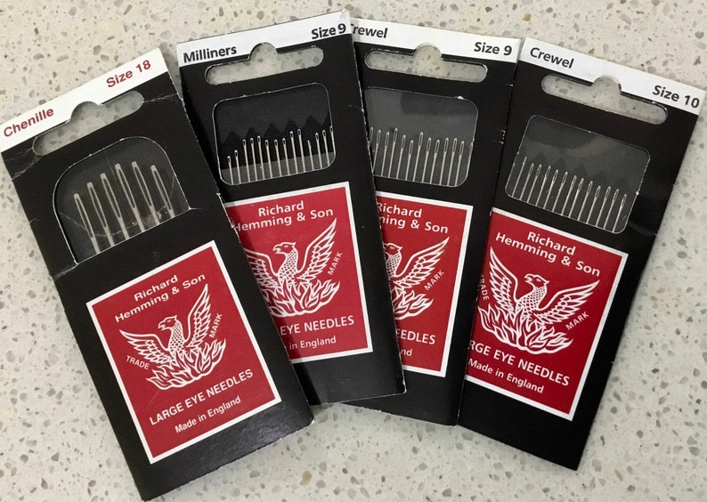 Milliners Size 5 Richard Hemming Needles Made in England