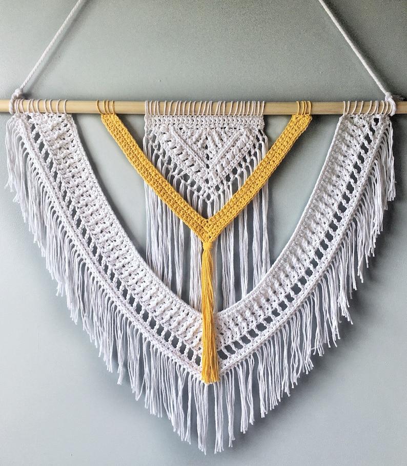 Sunbeam Wall Hanging Crochet Pattern Crochet Wall Hanging image 1