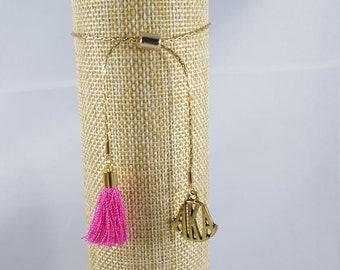 AKA-Adjustable Gold tone chain bracelet