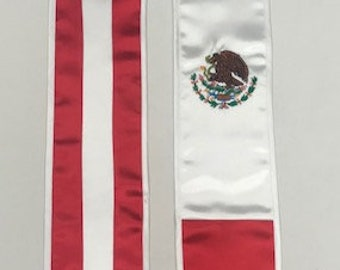 b77038be1 Mexican American Flag Stole