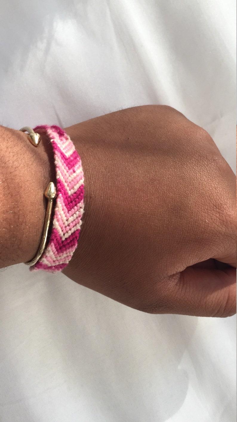 Hot Pink Friendship Bracelet Chevron