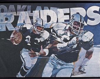 69298e468 NFL Poster 1970's LA Raiders Print Gift Idea American Football Print  Sporting Poster
