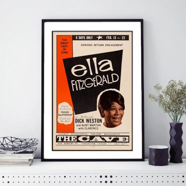 1959 Concert Poster Ella Fitzgerald