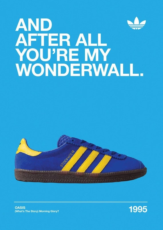 Oasis Liam Gallagher Noel Gallagher Adidas Stockholm Print  ee5067accd312