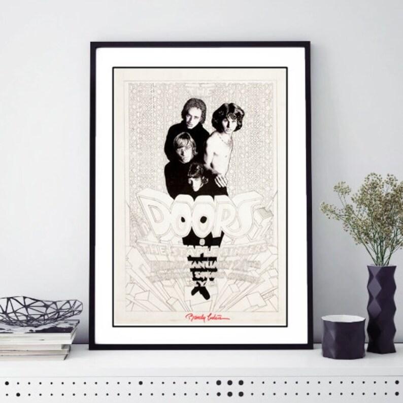 The Doors Concert Poster Canvas Art Print 1967 Berkeley Community Theater
