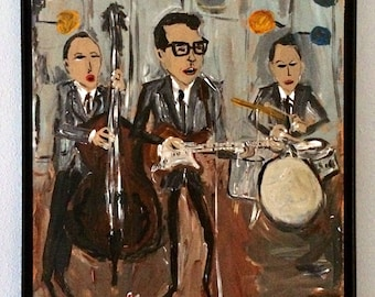 Buddy Holly and the Crickets painting by outsider artist Lamar Sorrento