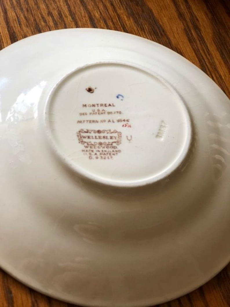 Vintage Hand Painted Wedgwood Wellesley saucers set of 5