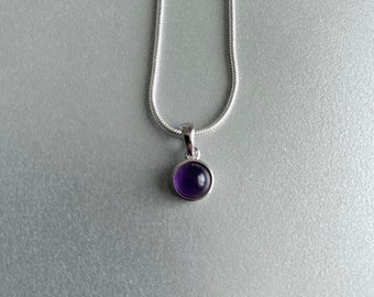 February Birthstone 925 Sterling Silver Pendant Jewelry Making Everyday Jewelry Gemstone Charm Natural Amethyst Pendant Unisex Pendant