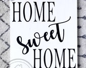 Home Sweet Home Sign, Farmhouse Sign, Wooden Sign, Farmhouse Decor, White Farmhouse Sign, Home Sweet Home, Housewarming Gift, Wedding Gift,