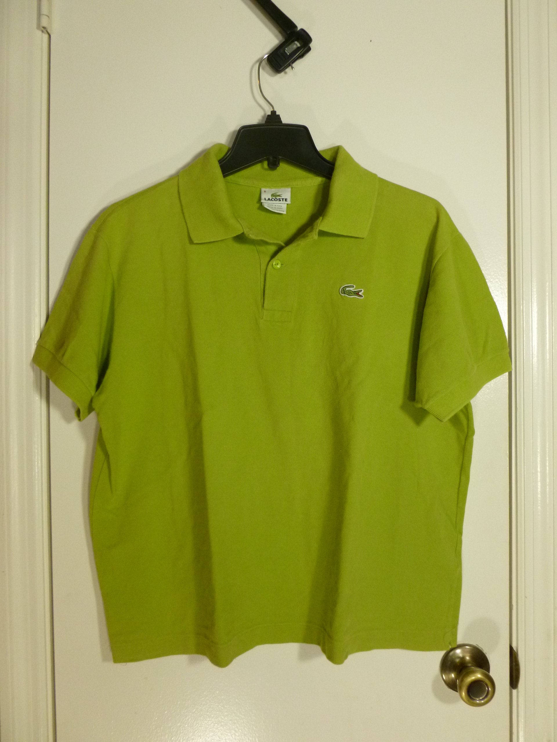 Lacoste Mens Green Polo Shirt Size 6 Cotton Etsy