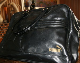 51cba7c2aa31 Vintage Puma Black Gym Bag