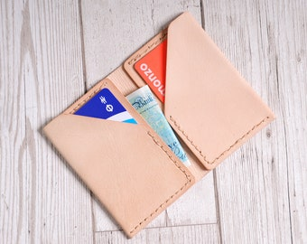 Leather hand-stitched Card Wallet