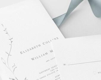 Printable Elegant Modern Wedding Invitation by GertrudePaperStudio