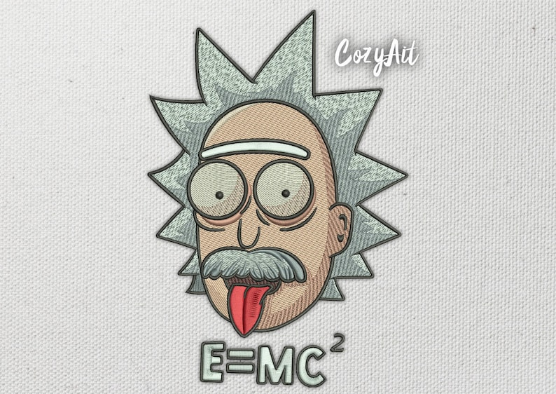 DIGITAL: Rick Einstein Style (rick and morty) - 4 sizes embroidery design  for machine embroidery (20)