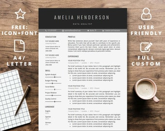 Resume Template Instant Download For Word