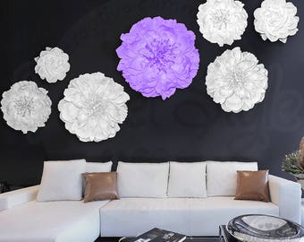 Flower Wall Paper Etsy