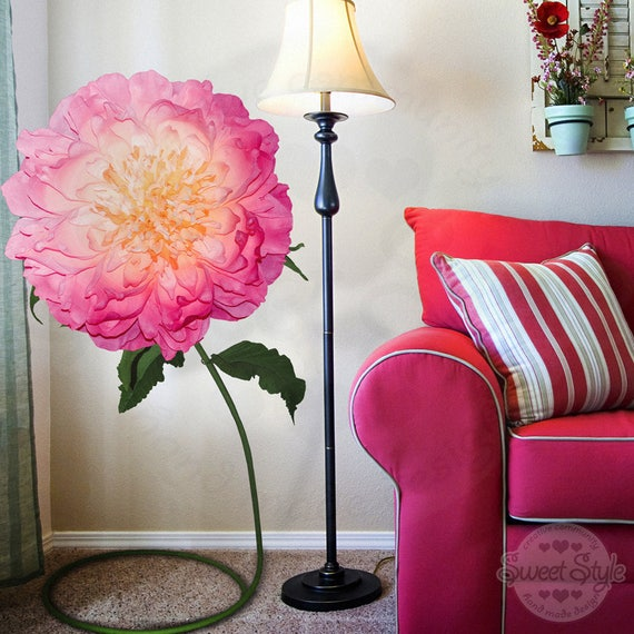 Beautiful Paper Big Rose Large Paper Flowers Paper Flowers Wall Decor Paper Flower Wall Paper Flowers Decorations
