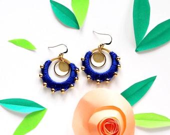 """Earrings """"handmade"""" blue crowns"""